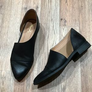Side Cutout Loafers